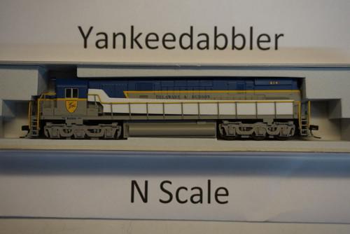 ATLAS 40003573 / Delaware & Hudson #614 (Lightning Stripe, gray, blue) ALCO D&H C-628 - LokSound & DCC - Master(R) Gold --   Atlas Model Railroad Co.  - (SCALE=N) Part # 150-40003573