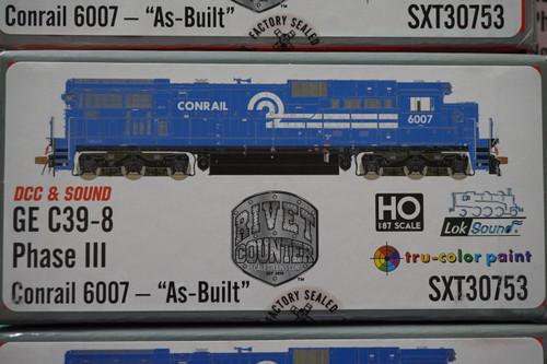 SXT30753 GE C39-8 Conrail #6007 Rivet Counter ScaleTrains  (SCALE=HO)  Part # 8003-SXT30753