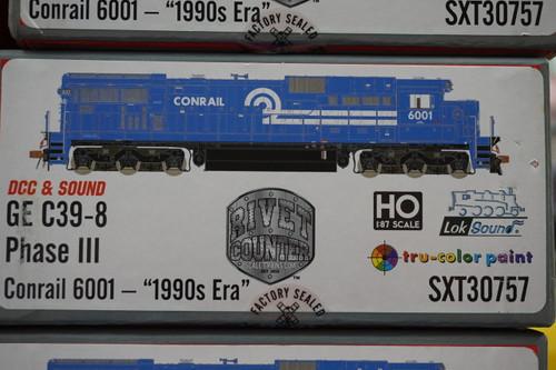 SXT30757 GE C39-8 Conrail #6001 Rivet Counter ScaleTrains  (SCALE=HO)  Part # 8003-SXT30757