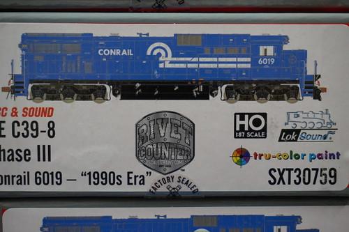 SXT30759 GE C39-8 Conrail #6019 Rivet Counter ScaleTrains  (SCALE=HO)  Part # 8003-SXT30759