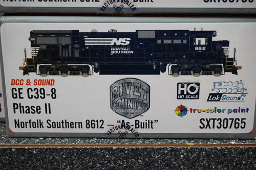 SXT30765 GE C39-8 Norfolk Southern #8612 Rivet Counter ScaleTrains  (SCALE=HO)  Part # 8003-SXT30765