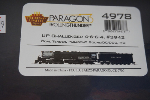 BLI-4978 Challenger 4-6-6-4 Union Pacific UP #3942 Broadway Limited  (SCALE=HO)  Part # 187-4978