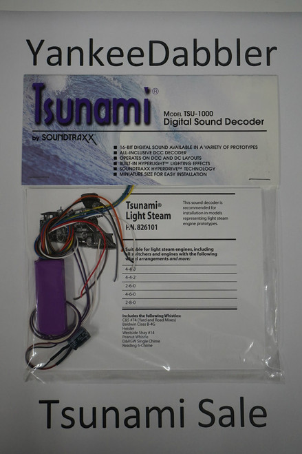 826101 Soundtraxx / Tsunami  TSU-1000 826101 Light Steam Scale = All Part # = 678-826101