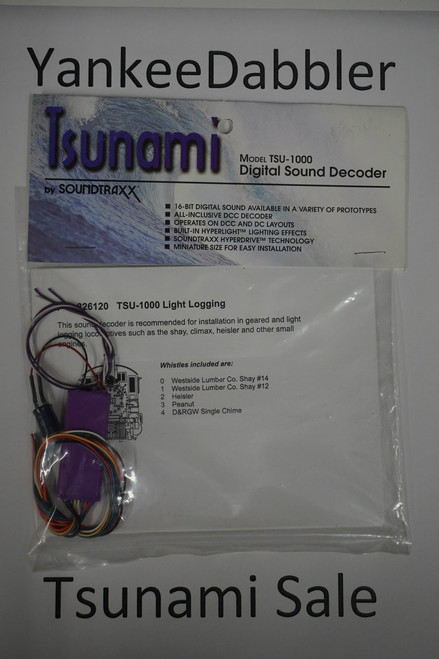 826120 Soundtraxx / Tsunami  TSU-1000 826120 Light Logging Steam Scale = All Part # = 678-826120