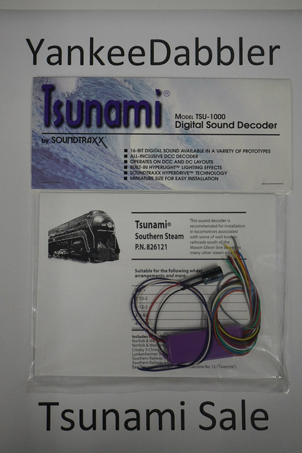 826121 Soundtraxx / Tsunami  TSU-1000 826121 Southern Steam Scale = All Part # = 678-826121