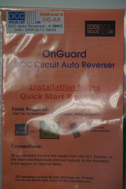 DCC SPECIALTIES 246-OGAR - OnGuard DCC Accessories -- Auto Reverser & Circuit Breaker (Scale=ALL) 246-OGAR