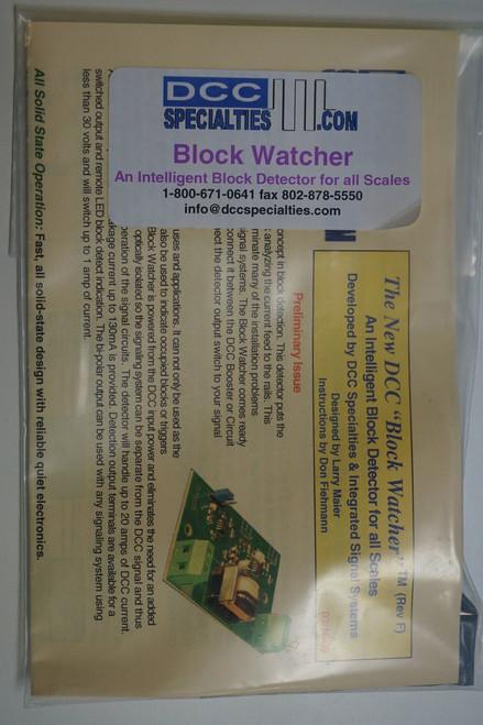 DCC SPECIALTIES 246-BLOCKWATCHER - BlockWatcher(TM) Block Detection Unit (SCALE=ALL) 246-BLOCKWATCHER