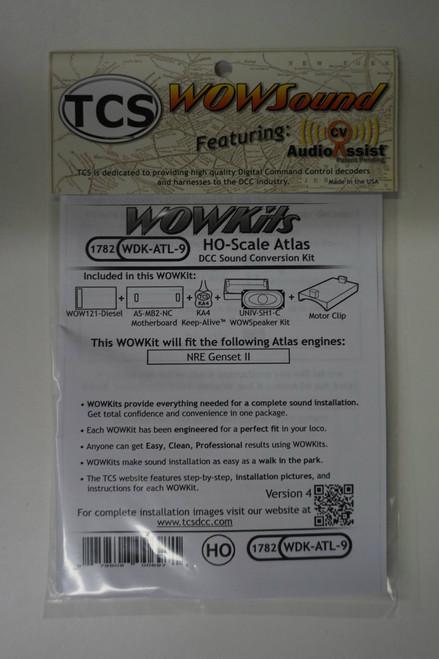 1782 TCS TRAIN CONTROL SYSTEM /  ATLAS {WOW WDK-ATL-9 DIESEL Version 4 CONVERSION KIT - HO Scale  YankeeDabbler Part # 745-1782