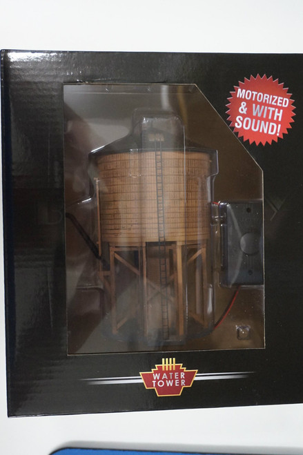 BLI-6091 Motorized Water Tower - Unlettered Weathered Brown - Broadway Limited  (SCALE=HO)  Part # 187-6091