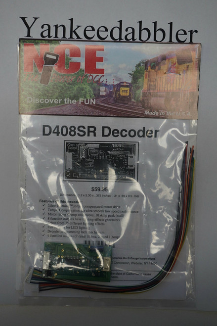 111 NCE /  D408SR DCC Control 4-Amp Decoder - Sil (SCALE=O) Part # = NCE111