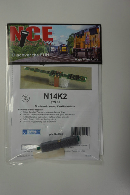 169 NCE -  N14K2 Decoder Kato N Scale Decoder Part # NCE169