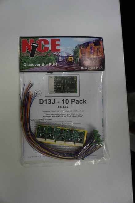 176 NCE -  D13J Decoder 10 Pack / Part # NCE176
