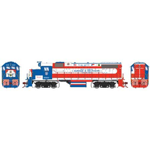 ATHG65778 GP38-2 D&S Durham & Southern #2000 with DCC & Sound Tsunami2  (SCALE=HO)  Part #ATHG65778
