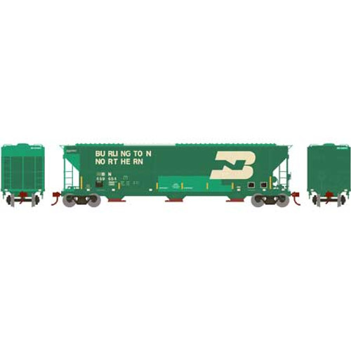 ATH82011 Athearn FMC 4700 Covered Hopper BN Burlington Northern #459654  (HO Scale) Part #ATH82011