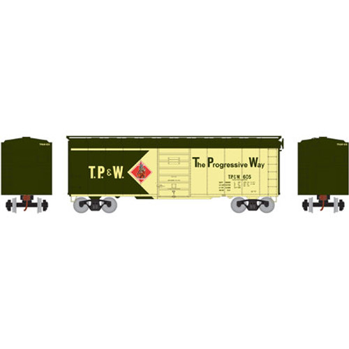 ATH73587 Athearn 40' Superior Door Boxcar TP&W Toledo Peoria & Western #605  (HO Scale) Part #ATH73587