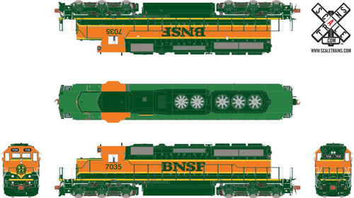 SXT30703 SD40-2 BNSF #7035ESU LokSound DCC & Sound Rivet Counter ScaleTrains  (SCALE=HO)  Part # 8003-SXT30703