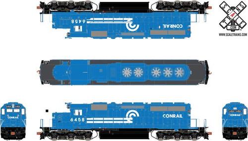 SXT30962 SD40-2 Conrail #6458 ESU LokSound DCC & Sound Rivet Counter ScaleTrains  (SCALE=HO)  Part # 8003-SXT30962