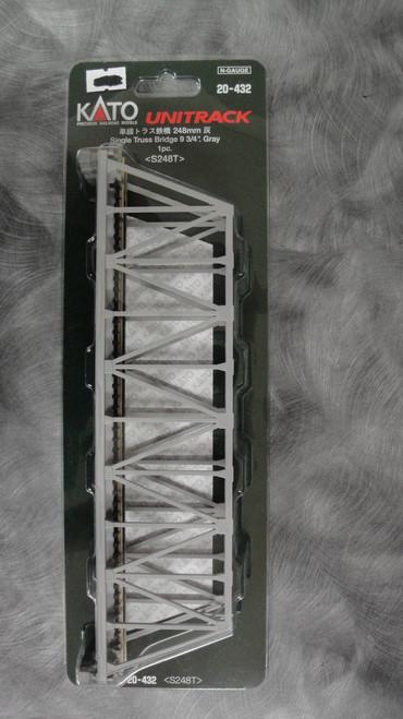 "20432 Kato USA Inc / 248mm (9 3/4"") Single Track Truss Bridge, Gray (SCALE=N)  Part # 381-20432"