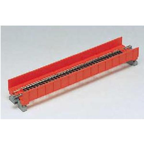 "20450 Kato USA Inc / 186mm (7 5/16"") Single Track Plate Girder Bridge, Red  (SCALE=N)  Part # 381-20450"