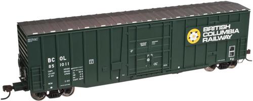 20002673 50' NSC Plug Door Boxcar BCR British Columbia Railway #851011 (HO Scale) ATLAS 150-20002673