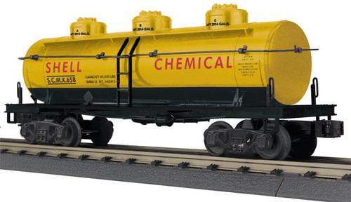 30-73381 MTH Rail King (O Scale) Shell Chemical - SCMX #658 3 Dome Tank Car