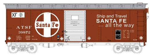 6-40299 Bowser (HO Scale) 40' Boxcar ATSF - Santa Fe #39830