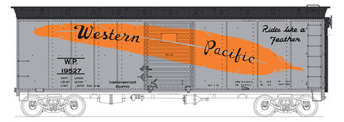 6-40290 Bowser (HO Scale) 40' Boxcar WP Western Pacific #19527