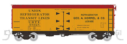 606-521016 Rapido (N Scale) GARX 37' Meat Reefer - URTX - Hormel