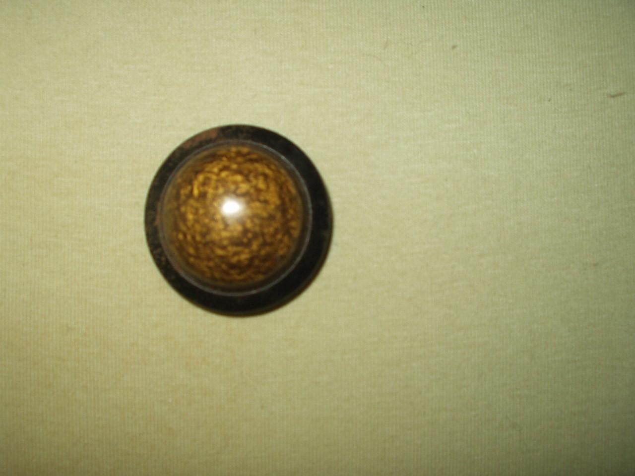 Vintage Edwardian 1920 Dome Shape Celluloid Metal Coat Button