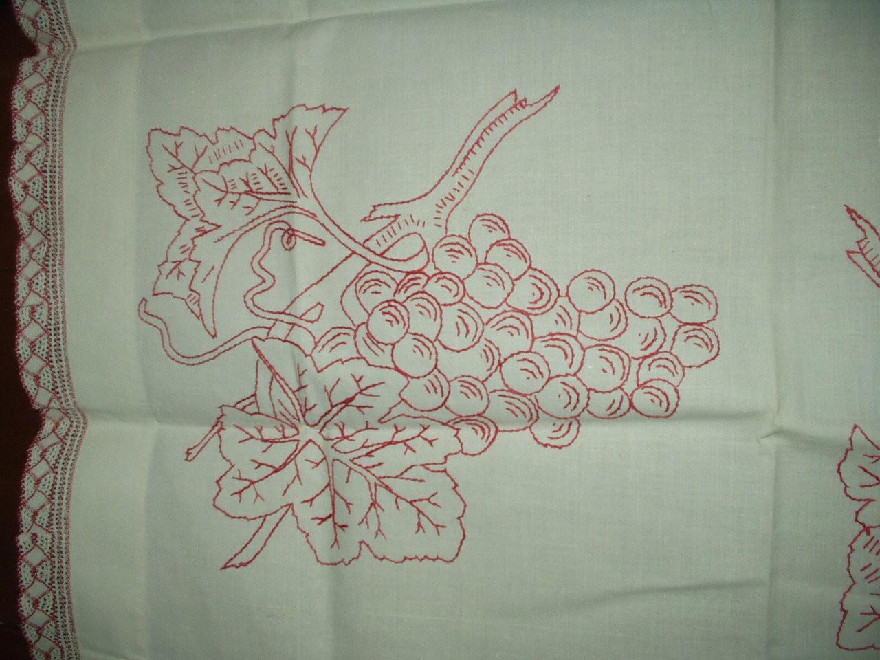 Antique Victorian Turkey Redwork Embroidery Sham Pillow