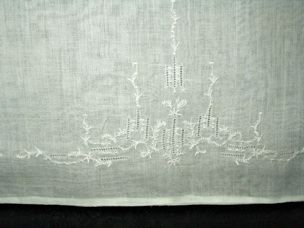 1920 1930 Batiste Embroidery Baby Boudior Pillowcase