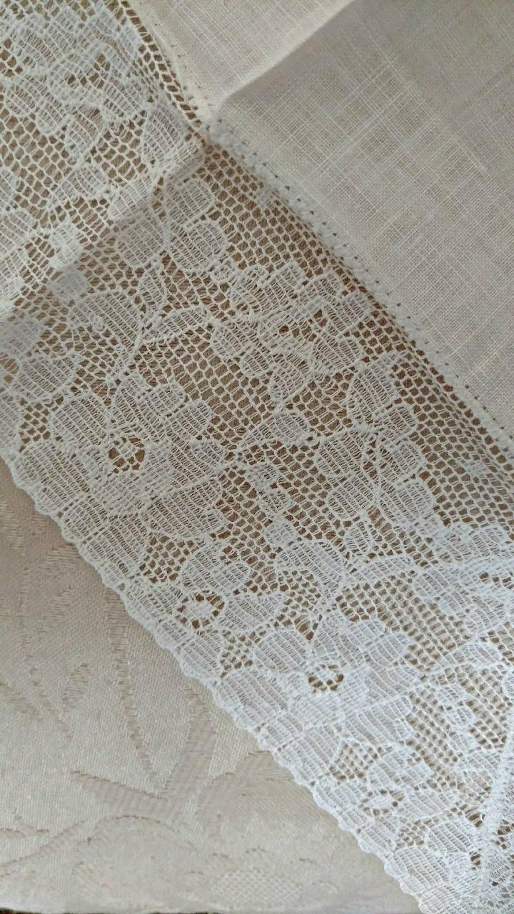 Vintage White Handkerchief Alencon Lace Edge Bridal Wedding Hankie