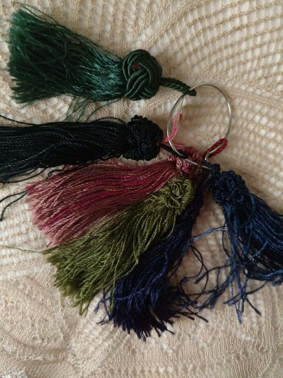 6 Old Stock Tassels Passamenterie Edwardian Silk Assorted Colors French