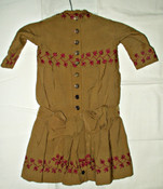 Children Victorian 1880s 1890s Cotton Hand Embroidery Dress