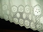 Antique Victorian Edwardian White Petticoat  Slip Broderie Anglaise Ruffle Trim