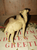 Vintage German Paper Mache Stick Leg Camel Christmas Nativity Putz Animal