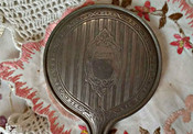 Buster Brown Advertising Silver Metal Hand Mirror A Promotional Giveaway Vanity