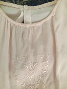 Baby Dress Slip Pink Silk Embroidery Vintage 1920s 1930s