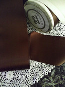 Antique Brown Silk Rayon Ribbon  Original Spool 1900s  1920s Millinery