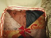 Antique Victorian Edwardian Silk Brocade Sewing  Pin Cushion