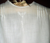 Vintage 1920 Long Christening Baby Day Dress Tucks Embroidery