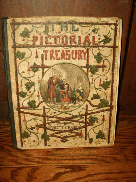 Children Victorian Story Book 1854 Pictorial Treasury Lippincott Grambo & Co.