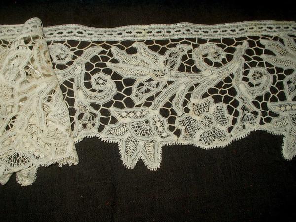 Antique Victorian Renassiance Battenburg Tape Lace Trim Yardage