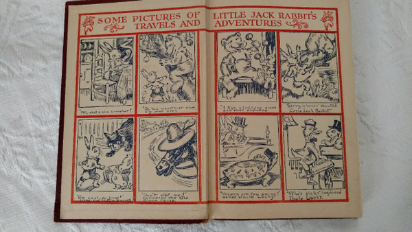Vintage Children Storybook Little Jack Rabbit Big Brown Bear 1921