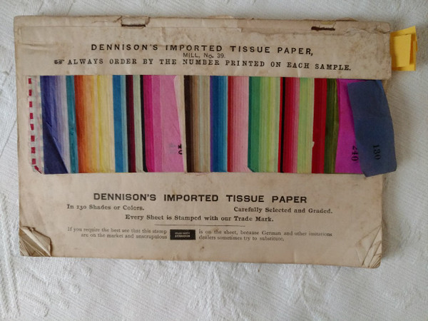 Victorian 1890s Dennison Crepe Paper Sample Book Price Flower Directions