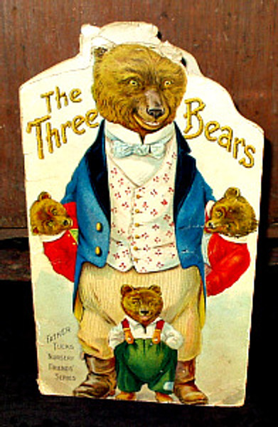 Antique Victorian 1900s Raphael Tuck Three Bears Children Storybook