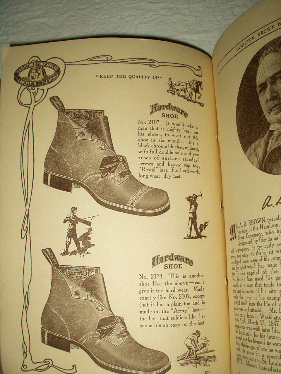 Vintage 1910 Hamilton Brown Shoe Household Catalog Book ...