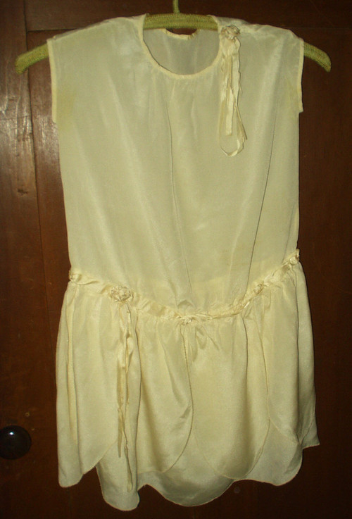 Vintage 1920s 1930s Girl S Silk Rayon Rosettes Party Dress