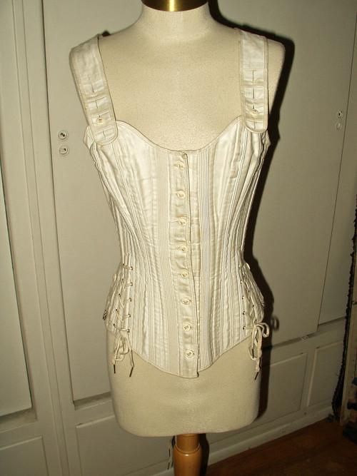 1890 S Victorian Bone Youth Corset Shoulder Straps Ferris