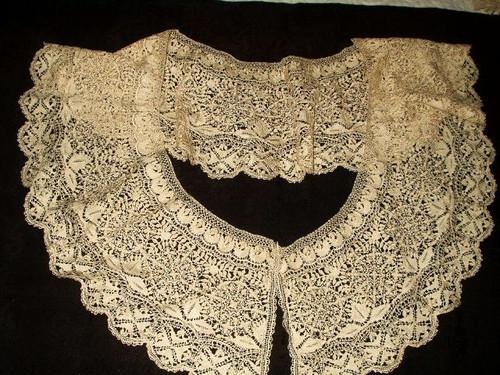 Antique 19th Century Victorian Handmade Silk Maltese